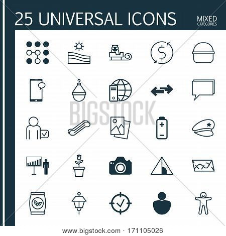 Set Of 25 Universal Editable Icons. Can Be Used For Web, Mobile And App Design. Includes Elements Such As Money Trasnfer, Globetrotter, Lantern And More.