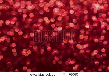 red background composition photograph with blur effect