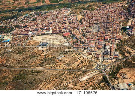 Riba-Roja Ribarroja del Turia village aerial photo in Valencia of spain