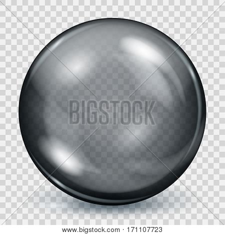 Transparent Black Sphere With Shadow