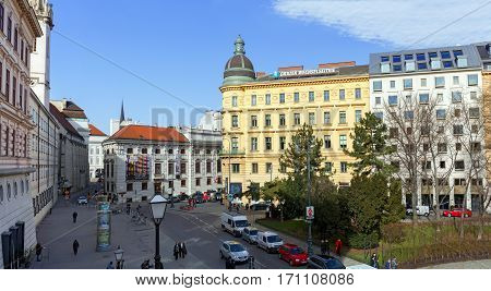 VIENNA/ AUSTRIA - FEBRUARY 22. Historic city centre. View of the Lobkowitz Palace on February 22, 2016. Austria, Vienna.