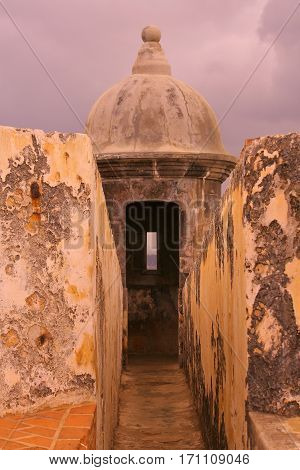 Entrance to sentry box in El Morro