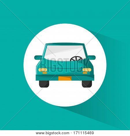 green car sedan vehicle trasnport vector illustration eps 10