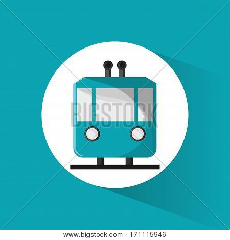 funicular cable car passeger transport vector illustration eps 10