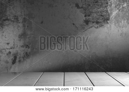 Concrete planks over grey blurred background. 3d rendering