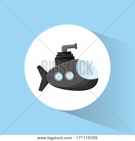 submarine periscope underwater icon vector illustration eps 10