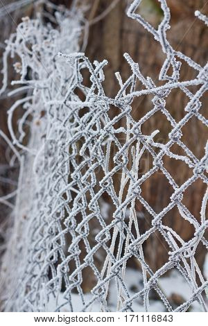 fence in frost background, cold, fence, frost, ice,