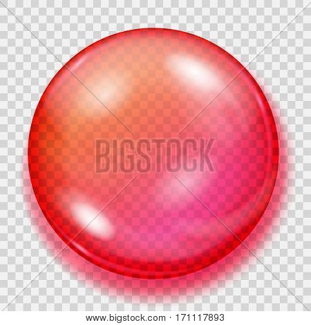 Transparent Red Sphere With Shadow