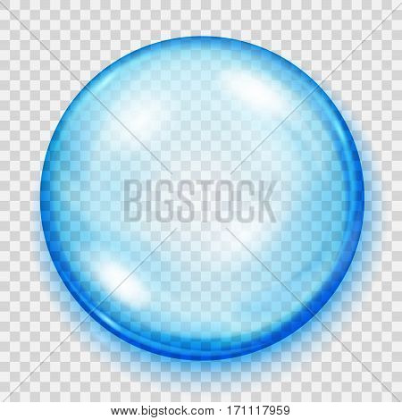 Transparent Light Blue Sphere With Shadow