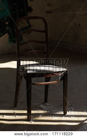 old chair lonely vintage furniture still life
