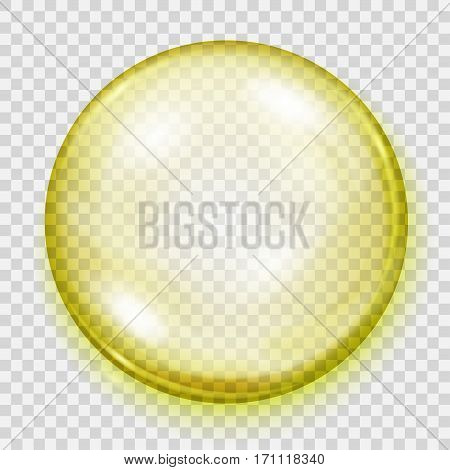 Transparent Yellow Sphere With Shadow