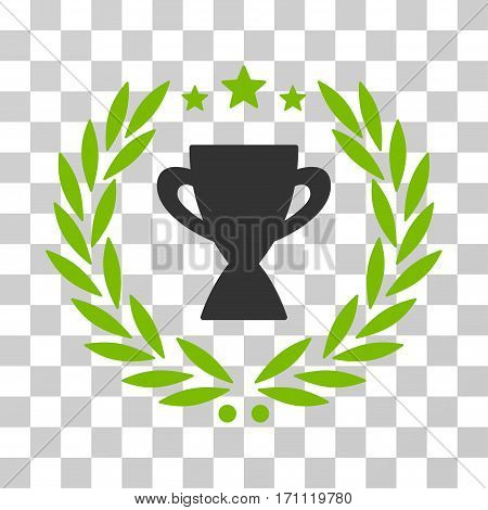 Glory Emblem icon. Vector illustration style is flat iconic bicolor symbol eco green and gray colors transparent background. Designed for web and software interfaces.
