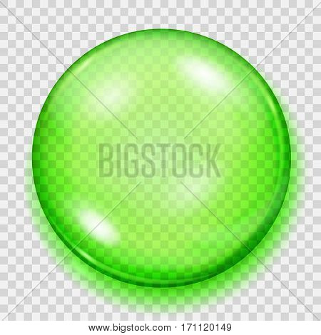 Transparent Green Sphere With Shadow