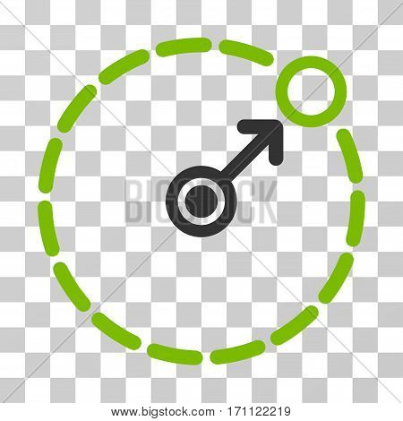 Round Area Border icon. Vector illustration style is flat iconic bicolor symbol eco green and gray colors transparent background. Designed for web and software interfaces.
