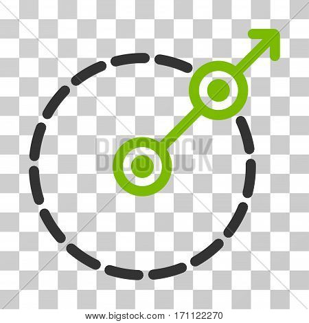 Round Area Exit icon. Vector illustration style is flat iconic bicolor symbol eco green and gray colors transparent background. Designed for web and software interfaces.
