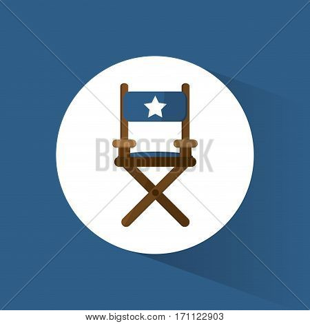 director chair film movie icon vector illustration eps 10