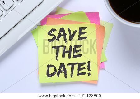 Save The Date Invitation Message Business Information Desk