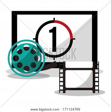 cinema board countdown film reel vector illustration eps 10
