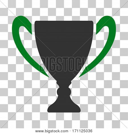 Cup icon. Vector illustration style is flat iconic bicolor symbol green and gray colors transparent background. Designed for web and software interfaces.