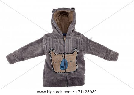 Fuzzy teddy jacket, isolated on white