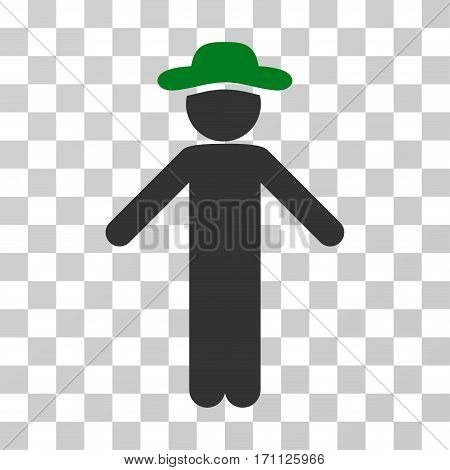 Gentleman Apology icon. Vector illustration style is flat iconic bicolor symbol green and gray colors transparent background. Designed for web and software interfaces.