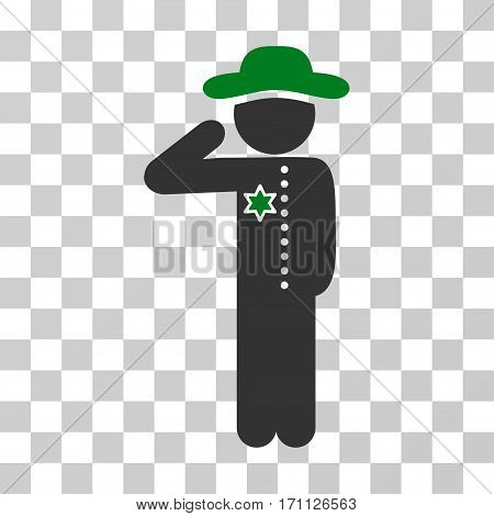 Gentleman Officer icon. Vector illustration style is flat iconic bicolor symbol green and gray colors transparent background. Designed for web and software interfaces.