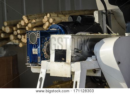 Londrina Brazil - January 14 2017: Cane milling machine and extracting juice from sugar cane.