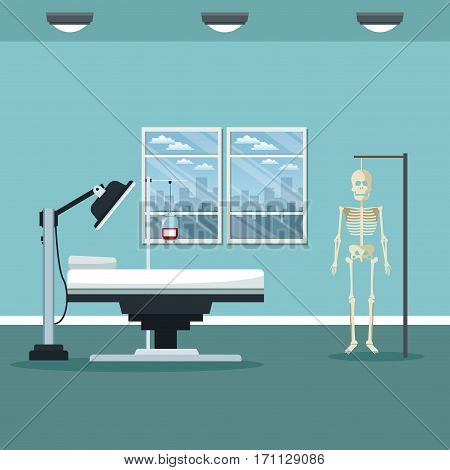 clinic room consultation care vector illustration eps 10