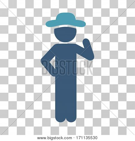 Gentleman Proposal icon. Vector illustration style is flat iconic bicolor symbol cyan and blue colors transparent background. Designed for web and software interfaces.