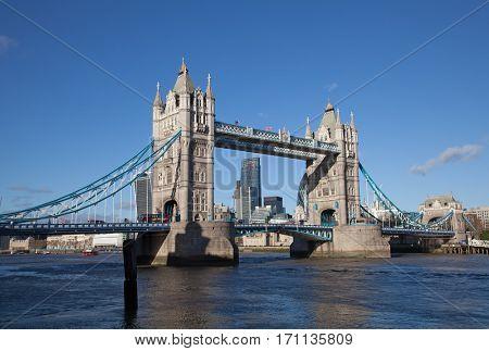 Famous tower bridge in London, UK