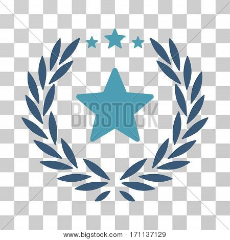 Proud Emblem icon. Vector illustration style is flat iconic bicolor symbol cyan and blue colors transparent background. Designed for web and software interfaces.