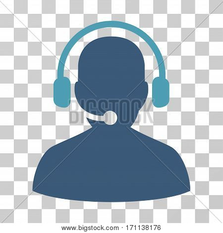 Telemarketing icon. Vector illustration style is flat iconic bicolor symbol cyan and blue colors transparent background. Designed for web and software interfaces.