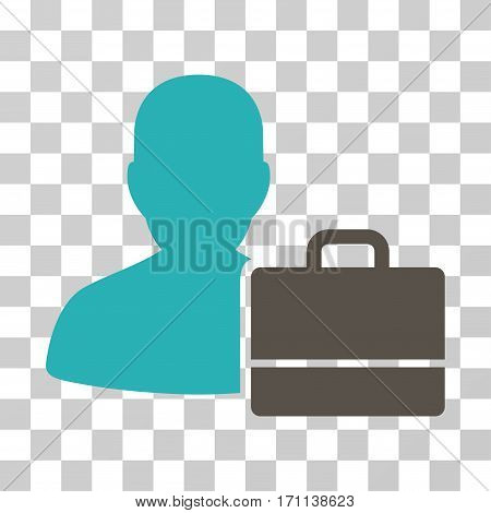 Accounter icon. Vector illustration style is flat iconic bicolor symbol grey and cyan colors transparent background. Designed for web and software interfaces.