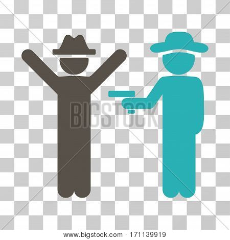 Gentleman Crime icon. Vector illustration style is flat iconic bicolor symbol grey and cyan colors transparent background. Designed for web and software interfaces.