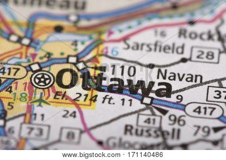 Ottawa, Ontario On Map