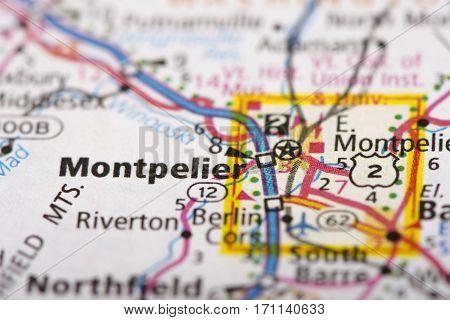 Montpelier, Vermont On Map
