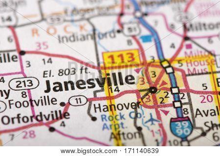 Janesville, Wisconsin On Map