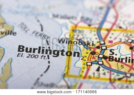 Burlington, Vermont On Map