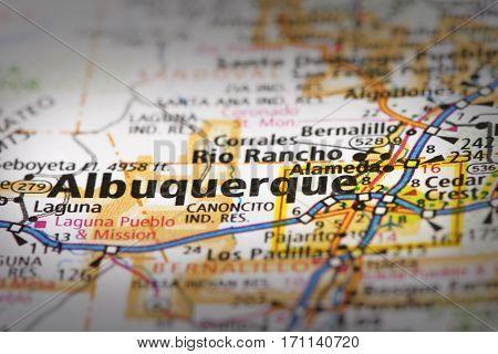 Albuquerque, New Mexico On Map