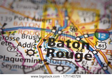 Baton Rouge, Louisiana On Map