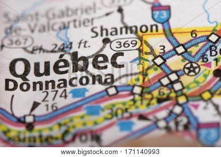 Quebec City On Map