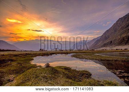 Sunrise At Nubra Valley, Leh Ladakh, , Jammu & Kashmir, Northern India