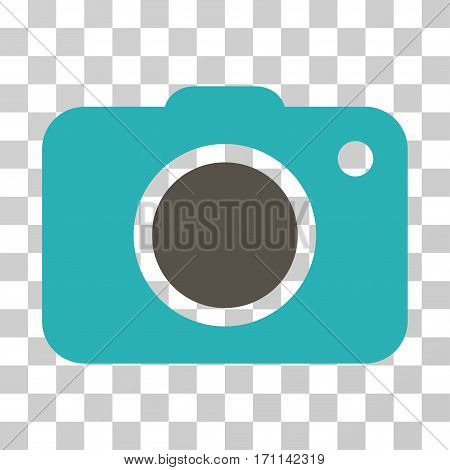 Photo Camera icon. Vector illustration style is flat iconic bicolor symbol grey and cyan colors transparent background. Designed for web and software interfaces.