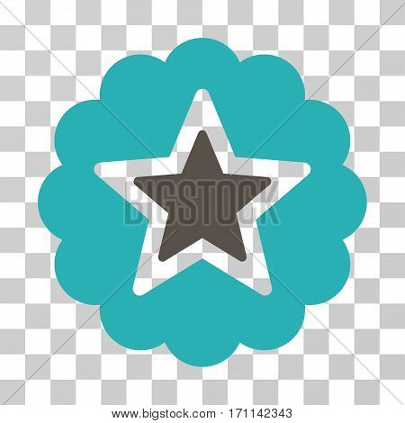 Premium icon. Vector illustration style is flat iconic bicolor symbol grey and cyan colors transparent background. Designed for web and software interfaces.