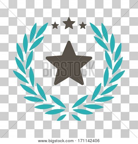 Proud Emblem icon. Vector illustration style is flat iconic bicolor symbol grey and cyan colors transparent background. Designed for web and software interfaces.