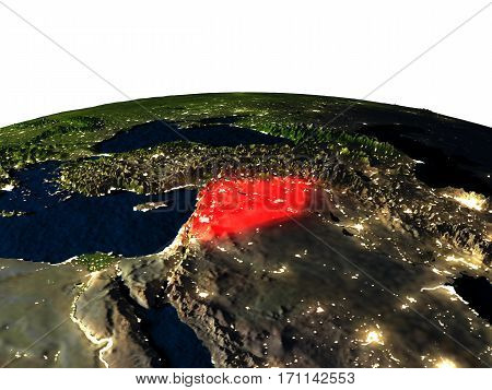 Syria From Space At Night