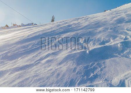 Windy Snow Slope