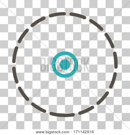 Round Area icon. Vector illustration style is flat iconic bicolor symbol grey and cyan colors transparent background. Designed for web and software interfaces.