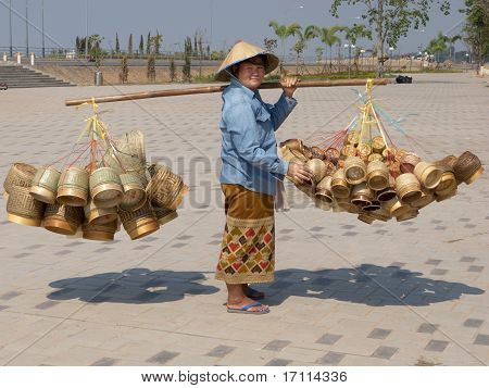 Traditional Asian Sale On The Street