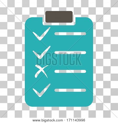 Task List icon. Vector illustration style is flat iconic bicolor symbol grey and cyan colors transparent background. Designed for web and software interfaces.